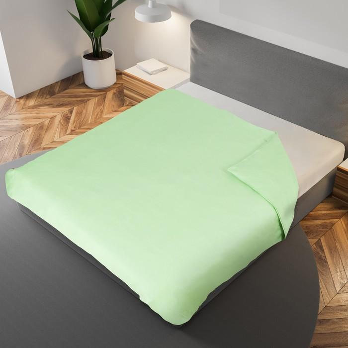 Пододеяльник «Этель» 175×210 см., цвет салатовый, 100% хлопок, мако-сатин, 125 г/м²