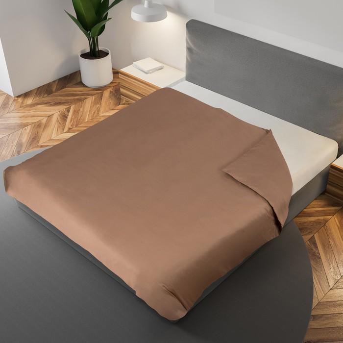 Пододеяльник «Этель» 200×220 см, цвет коричневый, 100% хлопок, мако-сатин, 125 г/м²