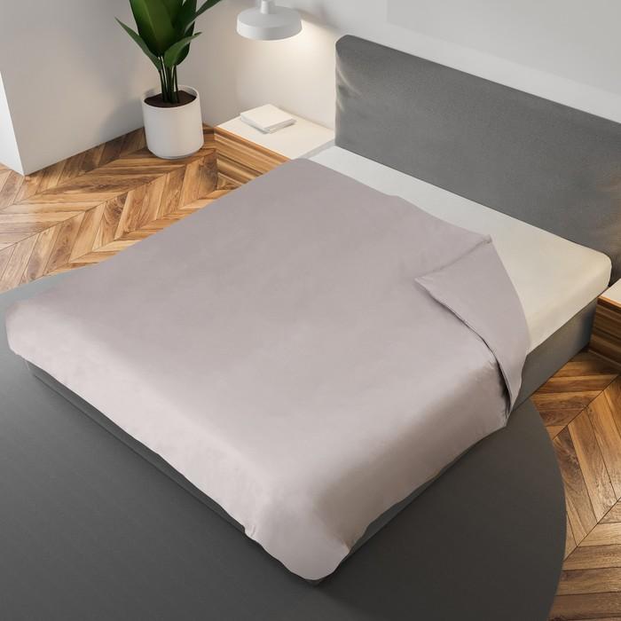 Пододеяльник «Этель» 200×220 см, цвет серый, 100% хлопок, мако-сатин, 125 г/м²