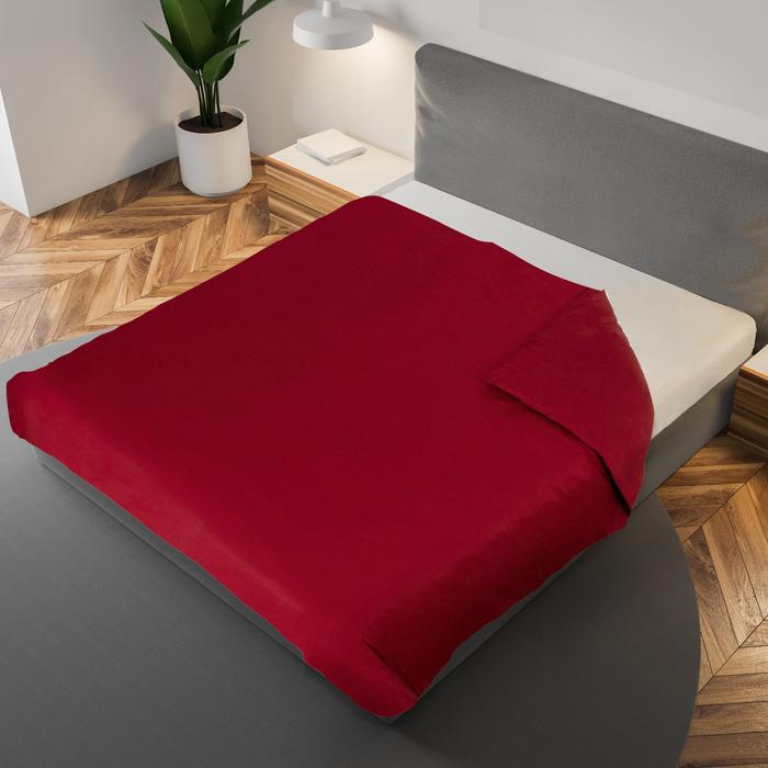 Пододеяльник «Этель» 200×220 см, цвет бордовый, 100% хлопок, мако-сатин, 125 г/м²