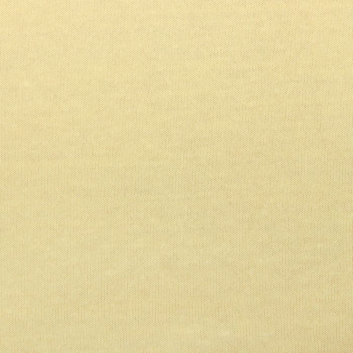 Простыня трикотажная на резинке, 180х200х20, цвет жёлтый, 125 гр/м2