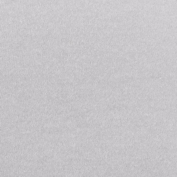Простыня трикотажная на резинке, 200х200х20, цвет серый, 125 гр/м2