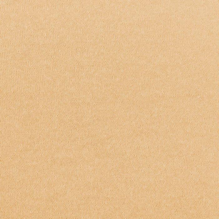 Простыня трикотажная на резинке, 90х200х20, цвет бежевый, 125 гр/м2