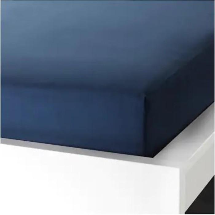 Простыня натяжная УЛЛЬВИДЕ, размер 90х200 см, цвет тёмно-синий