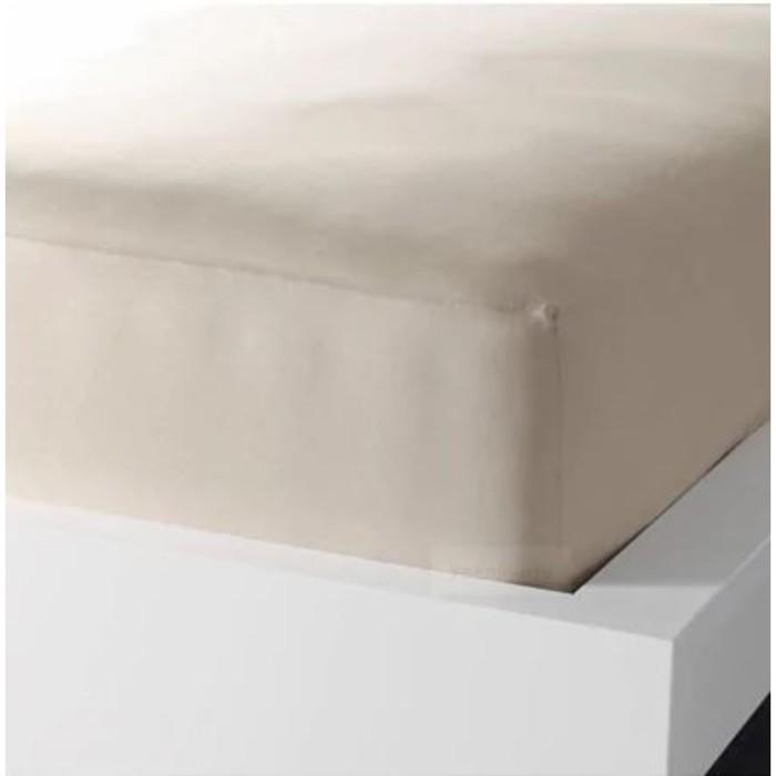 Простыня натяжная ДВАЛА, размер 140х200 см, цвет бежевый
