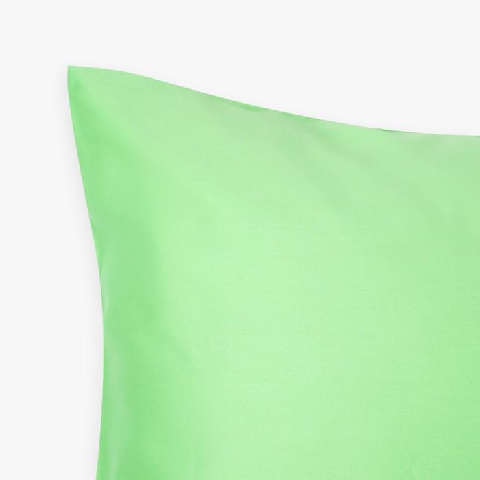Наволочка «Этель» 50×70 см, цвет салатовый, 100% хлопок, мако-сатин, 125 г/м²