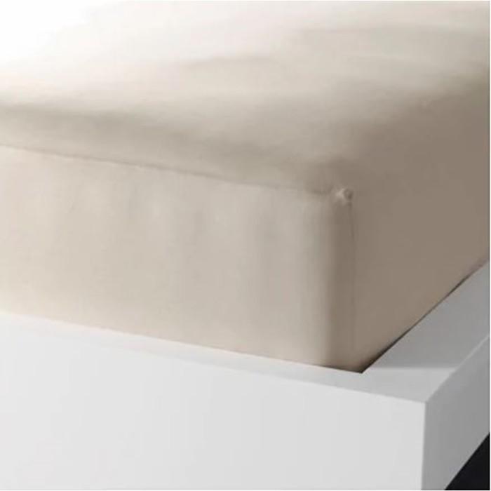 Простыня натяжная ДВАЛА, размер 160х200 см, цвет бежевый