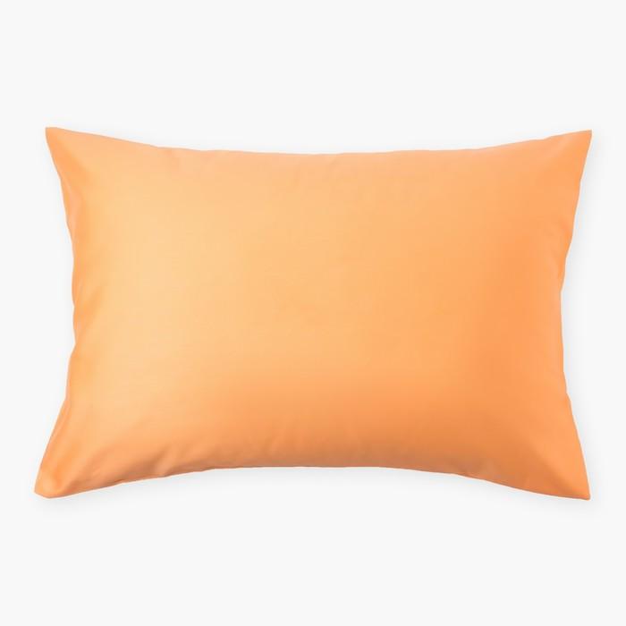 Наволочка «Этель» 50×70 см, цвет персиковый, 100% хлопок, мако-сатин, 125 г/м²
