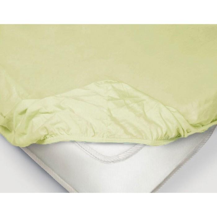Простыня на резинке, размер 200 × 200 × 20 см, поплин, цвет ментоловый
