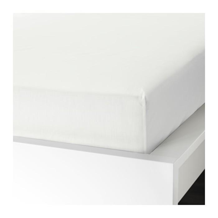 Простыня на резинке УЛЛЬВИДЕ, размер 180х200 см, цвет белый