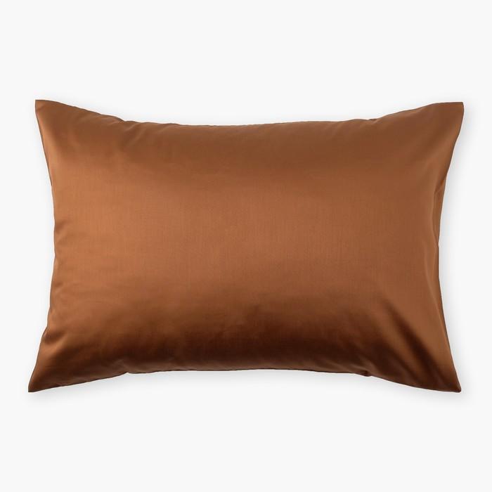Наволочка «Этель»70×70, цвет коричневый, 100% хлопок, мако-сатин, 125 г/м²