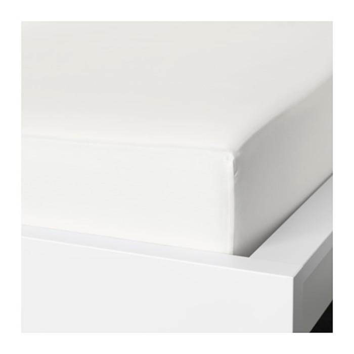 Простыня на резинке НАТТЭСМИН, размер 180х200 см, цвет белый