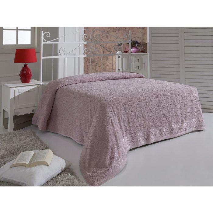 Простыня MODALIN ESRA 2 сп., размер 200x220 см, махра 400 г/м2, цвет грязно-розовый