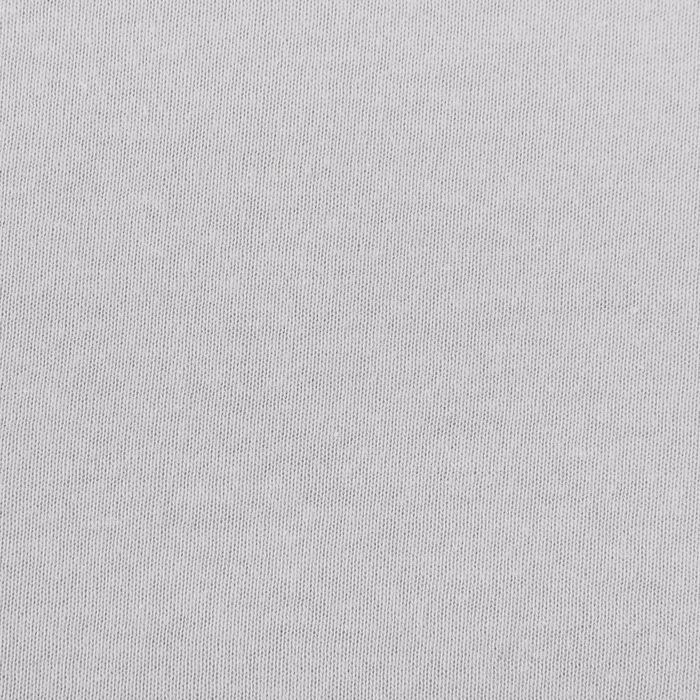 Простыня трикотажная на резинке, 90х200х20, цвет серый, 125 гр/м2