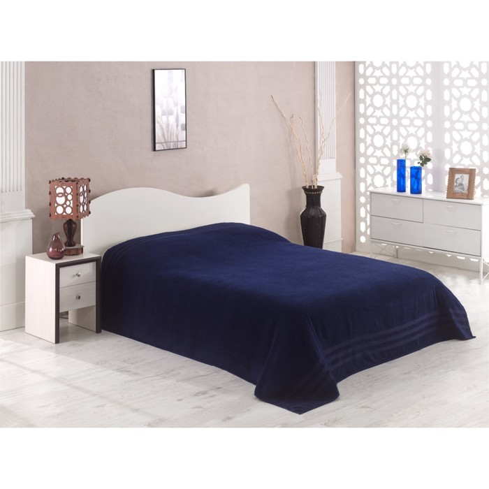 Простыня махровая Petek, размер 200х220 см, синий, 310 г/м2
