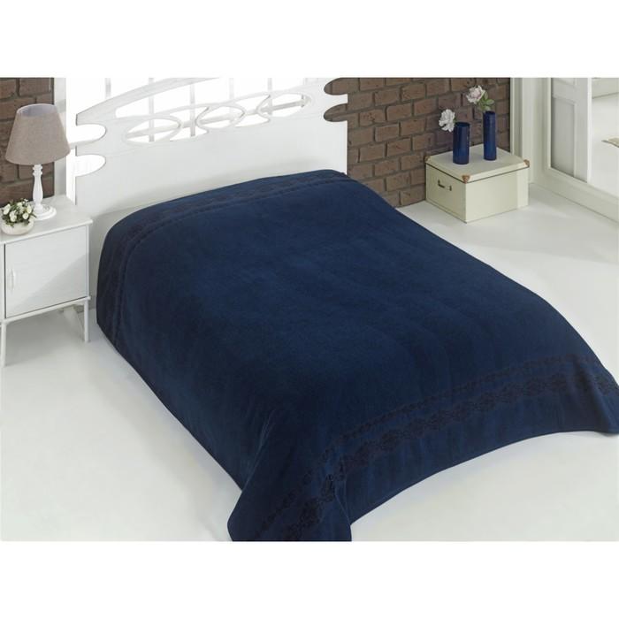 Простыня махровая Rebeka, размер 200х220 см, синий, 310 г/м2