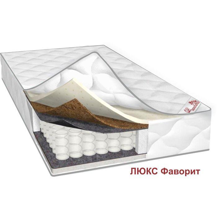 Матрас Люкс Фаворит, размер 90х200х24 см, трикотаж