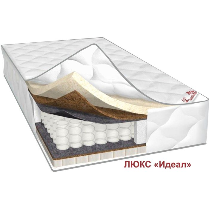 Матрас Люкс Идеал, размер 80х200х25 см, трикотаж