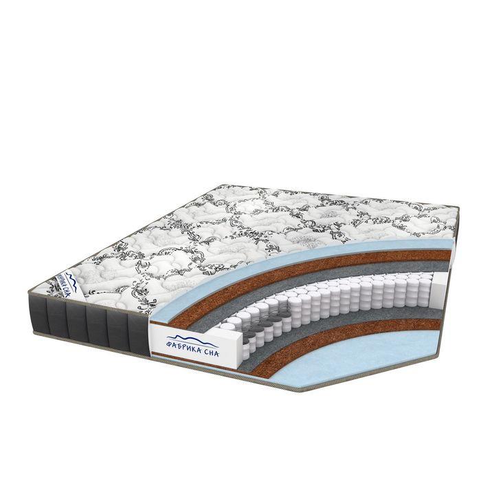 """Матрас """"Меркурий Black and White"""", размер 200х200 см, высота 18 см, трикотаж"""