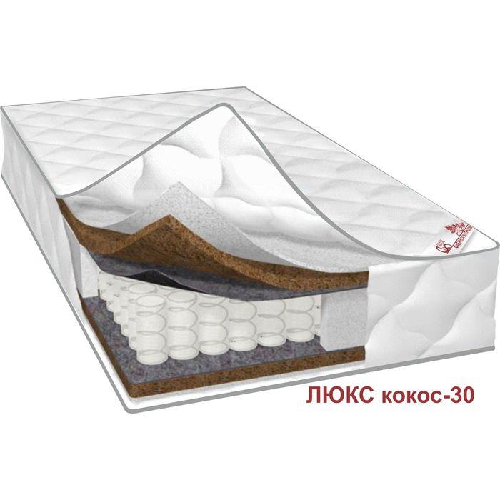Матрас Люкс Кокос-30, размер 180х190х24 см, жаккард