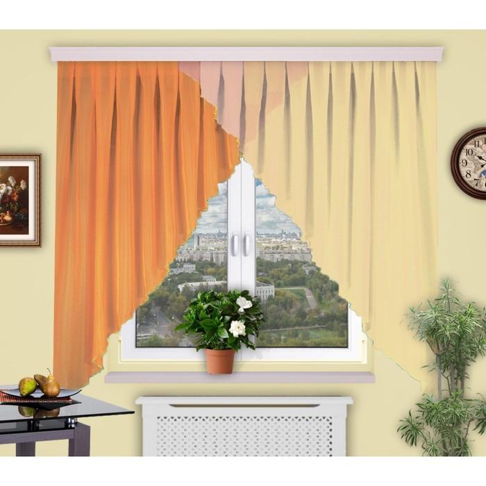 Штора кухонная «Дуэт лайт», 400 × 160 см - 1 шт, цвет 1/1