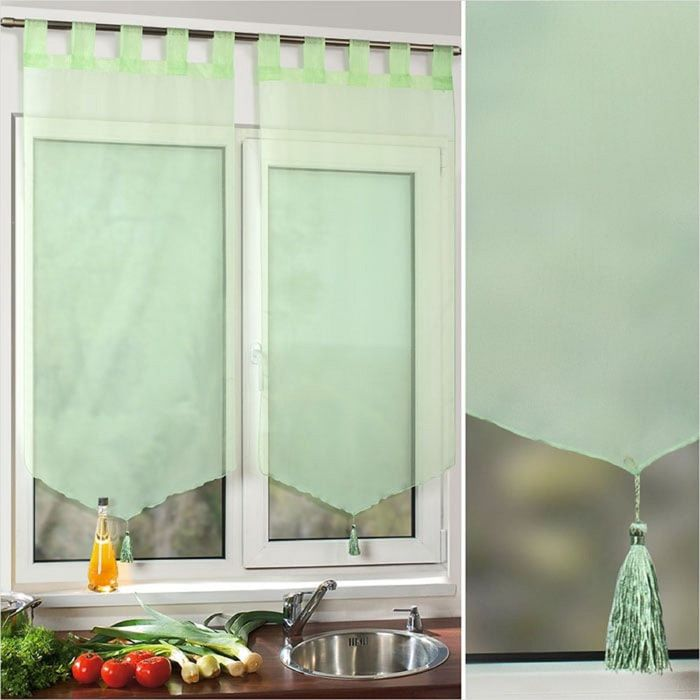 Комплект штор «Поло», размер 60 × 140 см - 2 шт, салатовый