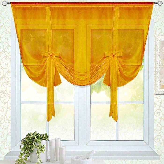 Портьера «Селена-200», размер 150 × 200 см - 1 шт, оранжевый