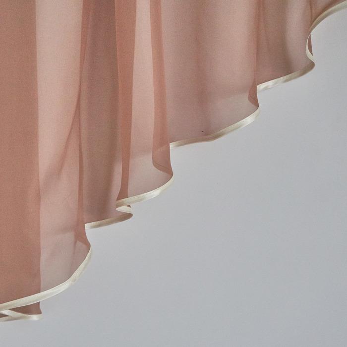 Комплект штор для кухни «Весна», 280х160 см, цвет какао,