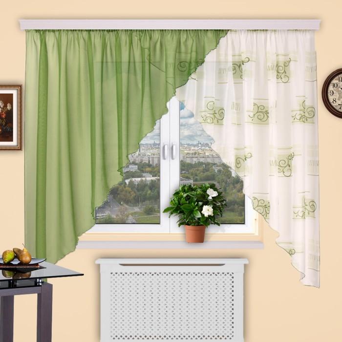Штора кухонная «Дуэт», 400 × 180 см - 1 шт, цвет 261