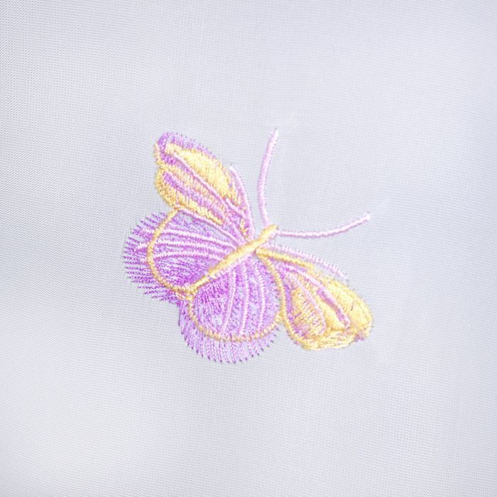 """Штора для кухни """"Этель"""" №3: Красные бабочки ширина 280 см, высота 170 см, 100% п/э"""