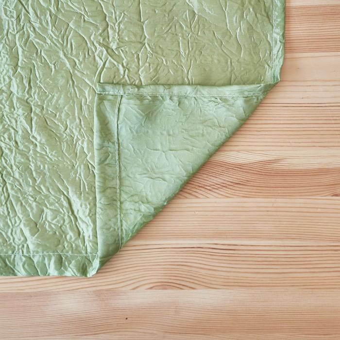 Комплект штор для кухни жатка-комби 270х160 см, зеленый, пэ 100%