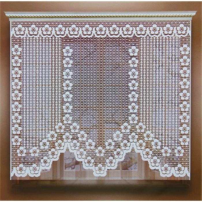 Штора 155х170 см, белый, 100% п/э, без шторной ленты