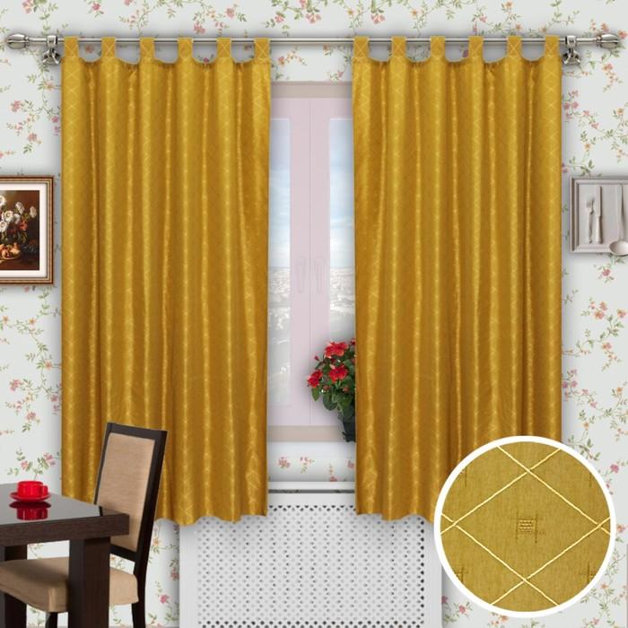 """Шторы кухонные """"Поло"""", размер 150х200 см-2 шт. цвет 755"""
