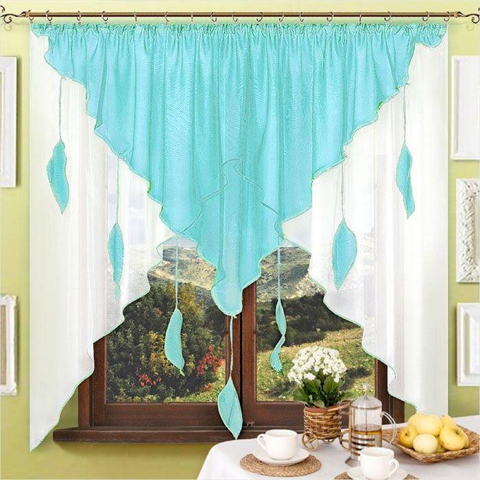 Портьера «Капель-1», размер 170 × 285 см - 1 шт, цвет бирюзовый