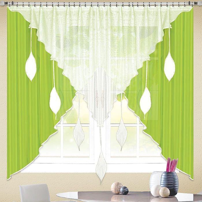 Портьера «Капель-2», размер 170 × 285 см - 1 шт, цвет ярко-зелёный