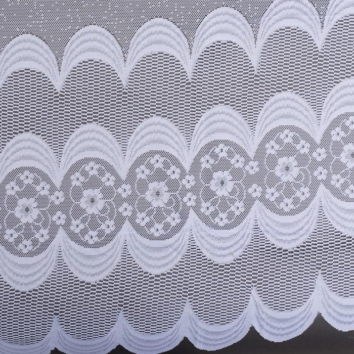 Штора тюль 420х165 см, белый, 100% п/э, шторная лента
