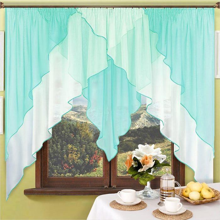 Портьера «Мираж», размер 180 × 400 см - 1 шт, бирюза