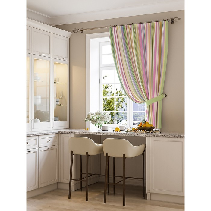Портьера для кухни «Миссисип», размер 150 × 180 см - 1 шт