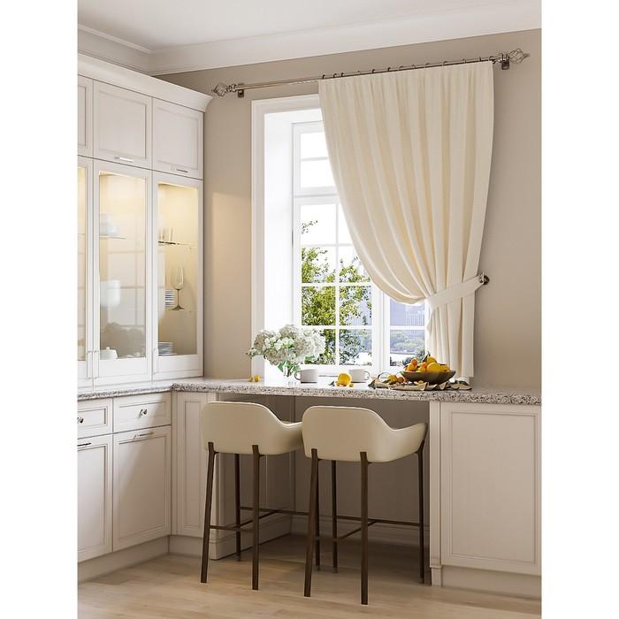 Портьера для кухни «Шампи», размер 150 × 180 см - 1 шт