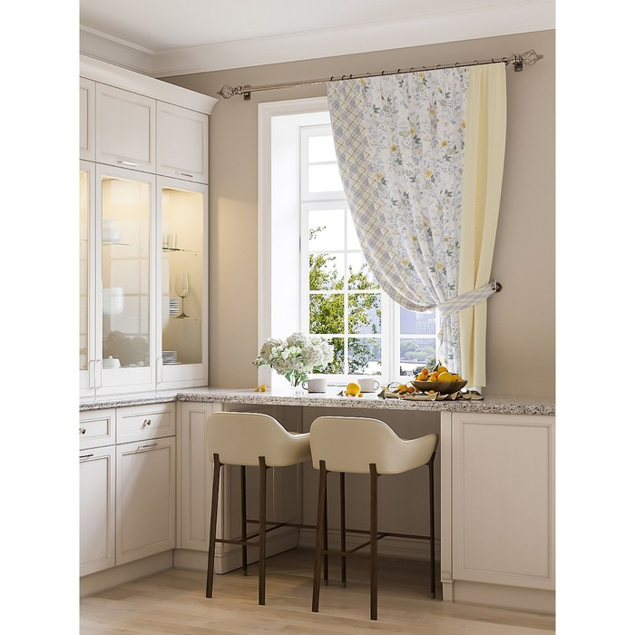 Портьера для кухни «Алур», размер 150 × 180 см - 1 шт