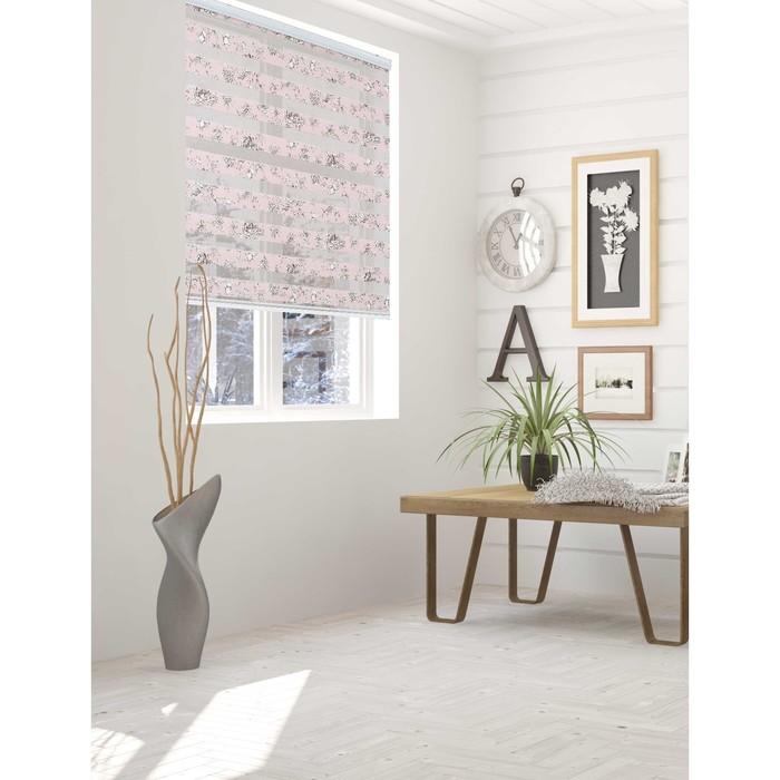 Штора текстильная для кухни день-ночь Pamela, 100х160 см, цвет розовый, пэ 100%