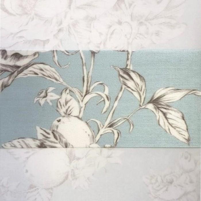 Штора текстильная для кухни день-ночь Pamela, 120х160 см, цвет бирюзовый, пэ 100%