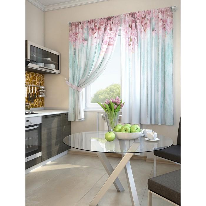 Комплект штор для кухни «Жалин», размер 150 × 180 см - 2 шт