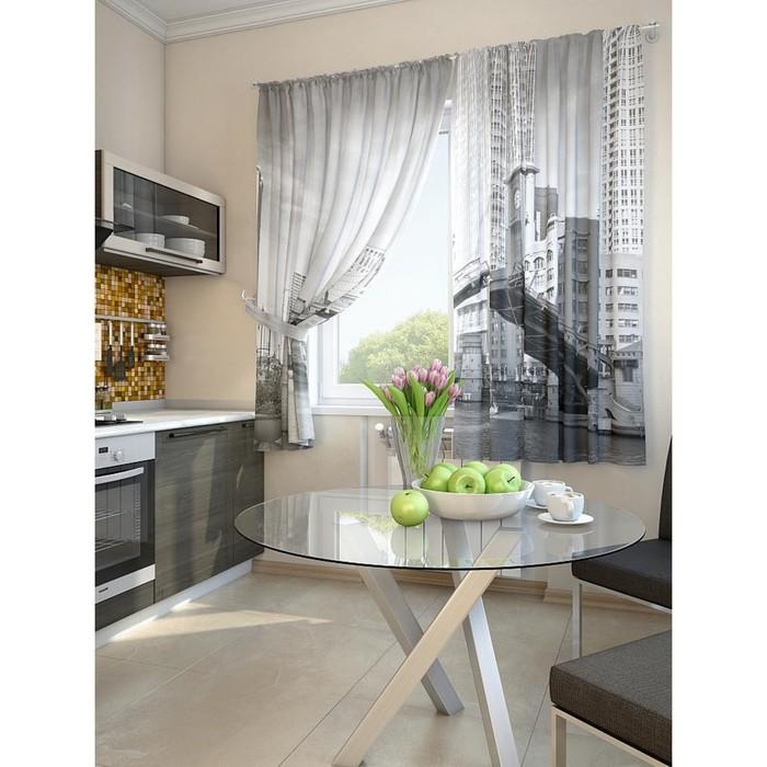 Комплект штор для кухни «Валд», размер 150 × 180 см - 2 шт