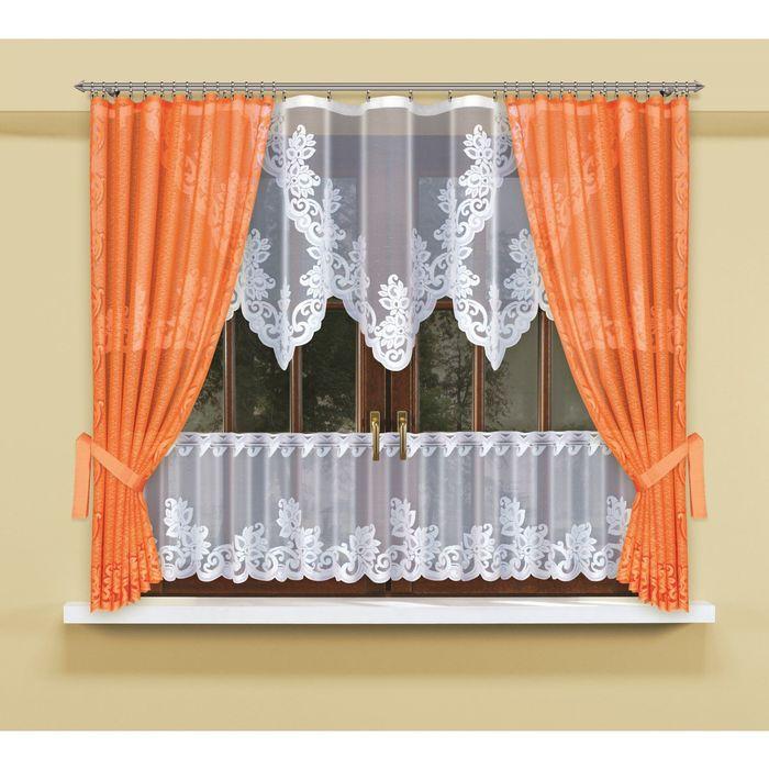 Комплект штор, размер 145 × 170 см - 2 шт, ламбрекен 90 × 300 см