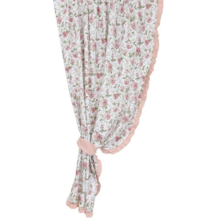 Комплект штор English rose, размер 145 × 270 см - 2 шт, розовый