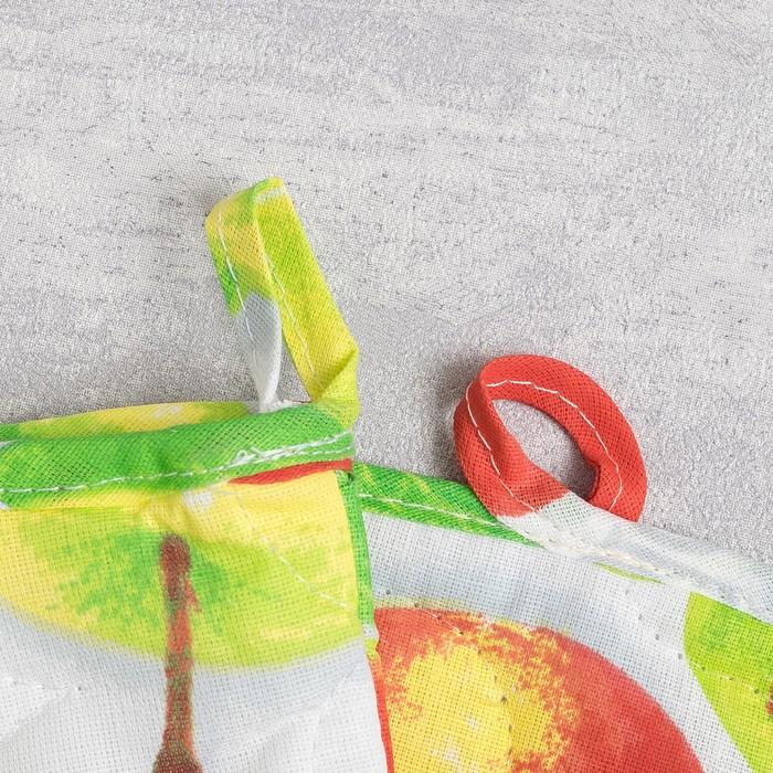 Набор для кухни (рукавичка- прихватка, прихватка, полотенце) Яблочное угощение, бязь 125г/м, хл100%