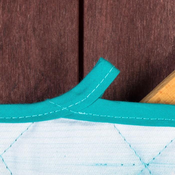 Набор 2 пр. прихватка, рукавица СЛАДКОЕШКА диагональ, 220 г/м2, хл.100%