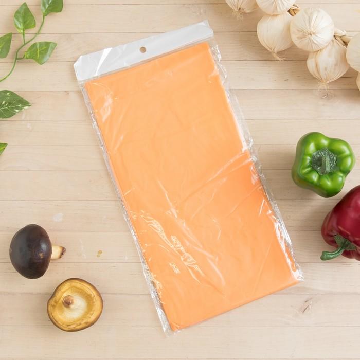 Скатерть для дачи Хозяюшка Радуга, цвет апельсин 137×183 см
