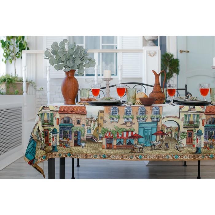 Скатерть «Этель: Италия», 220 × 150 см, хлопок 100 %, саржа, 190 г/м²